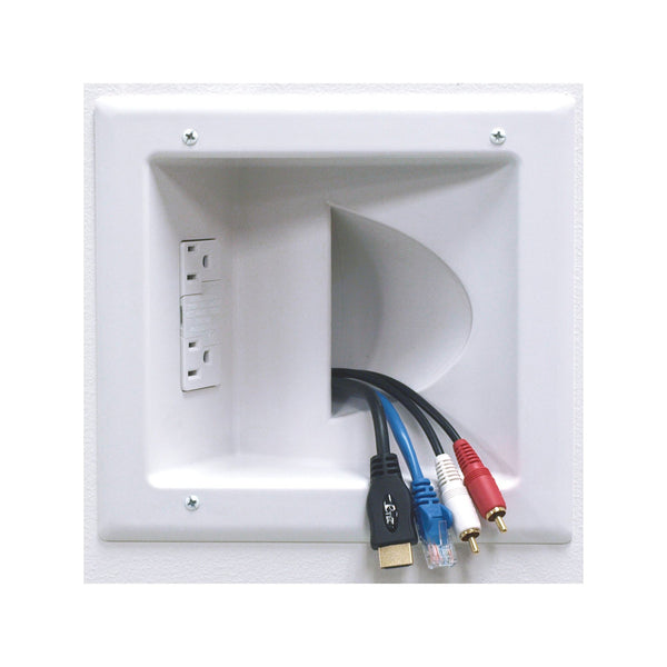 Peerless-AV Recessed Low Voltage Media Plate