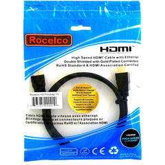Rocelco 2m (6.5ft) HDMI Cable with Ethernet & Audio Return