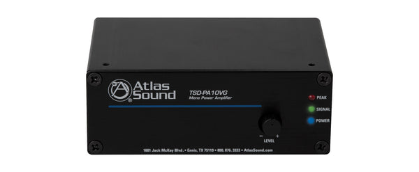 Atlas Sound TSD-PA10VG Amplifier - 10 W RMS - 1 Channel - Black