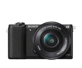 Sony ILCE5100L/B Alpha a5100 24.3MP Mirrorless Digital Camera with 16-50mm Lens - Black