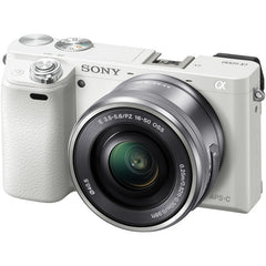 Sony ILCE6000L/W Alpha a6000 24.3MP Mirrorless Digital Camera with 16-50mm Lens - White