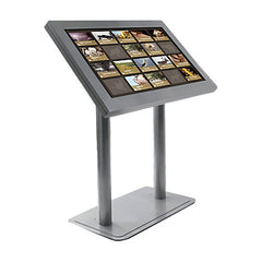 "Peerless KL546-AW Antimicrobial Indoor Digital Signage Kiosk Enclosure for 46"" Ultra-Thin Displays - Landscape - White"