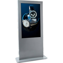 "Peerless KP555-AW Portrait Indoor Digital Signage/Kiosk Enclosure for 55"" LCD Displays - White"