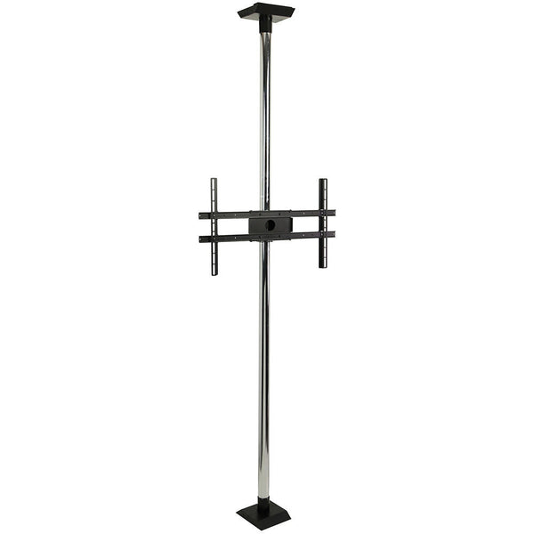"Peerless MODFCSKIT300 Modular Series Floor-to-Ceiling Kit for 32-60"" Display - 9.8', Chrome"