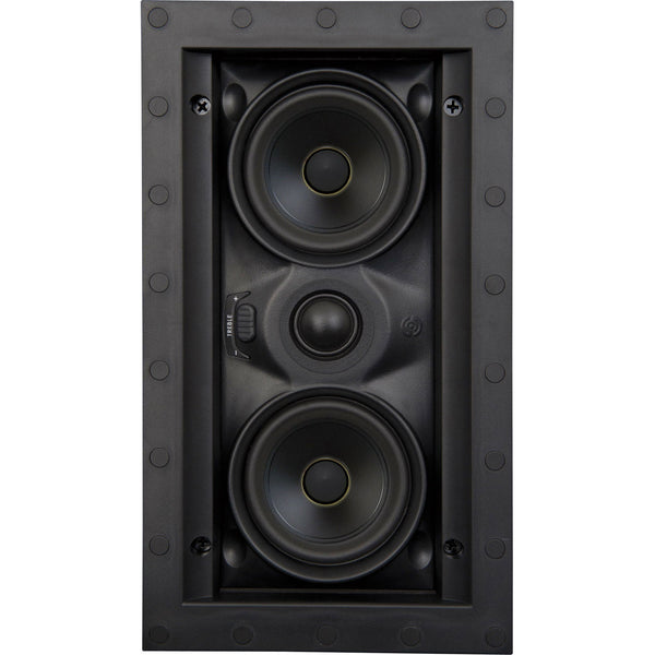 "SpeakerCraft ASM54311 Profile AIM LCR3 One 3"" In-Ceiling Speaker with Pivoting Woofer - Black (Each)"