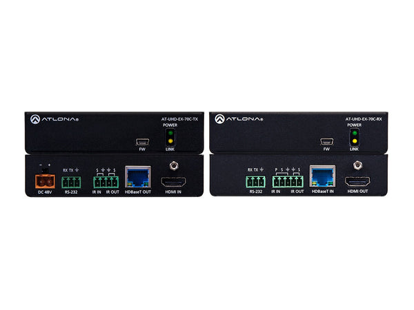 Atlona AT-UHD-EX-70C-KIT 4K/UHD HDMI Over HDBaseT TX/RX with Control and PoE