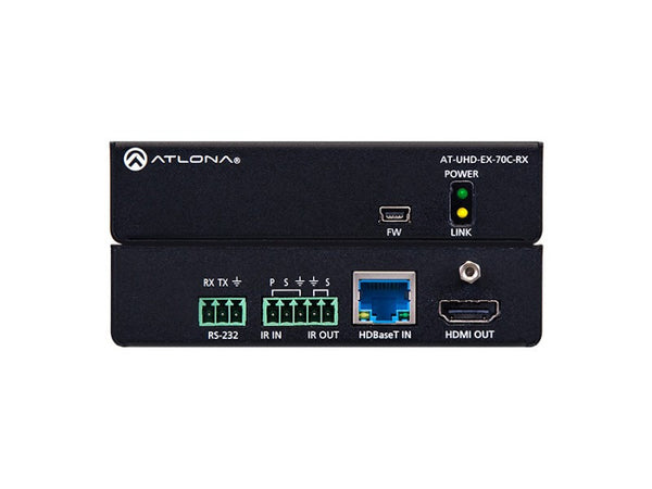 Atlona AT-UHD-EX-70C-RX HDMI Receiver w/IR and RS232