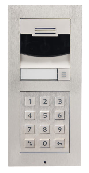 Control4 C4-DS2FMKP-BN Door Station, Flush Mount, Keypad - Brushed Nickel