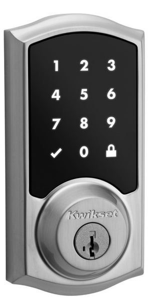Kwikset SmartCode 916 Touchscreen Deadbolt with Home Connect - Satin Nickel
