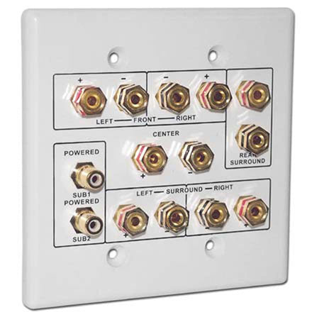 Choice Select Dual Gang 6.2 Home Theater Connection Wall Plate, white