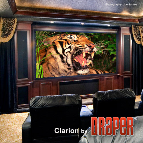 "Draper 252290SC Clarion 80 x 140"" Fixed Frame Screen with Veltex - Black Frame"