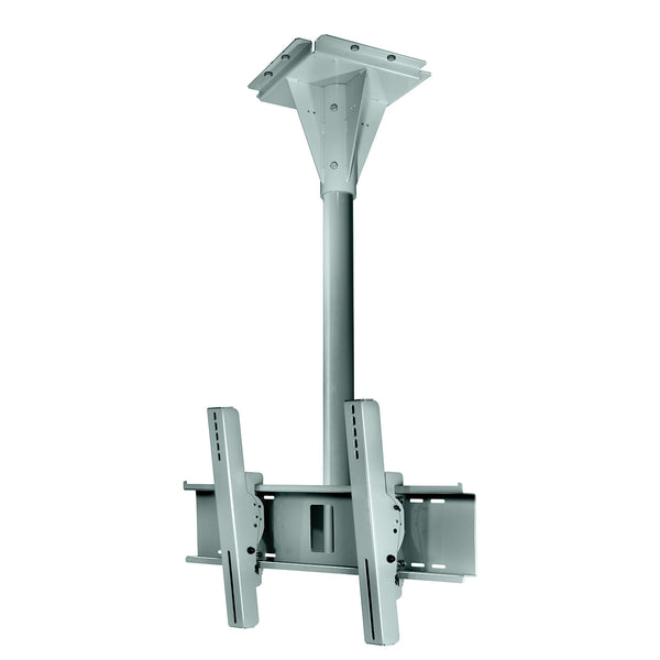 Peerless ECMU-04-C-S 4' Wind Rated Ceiling Tilt Mount - Stone Gray