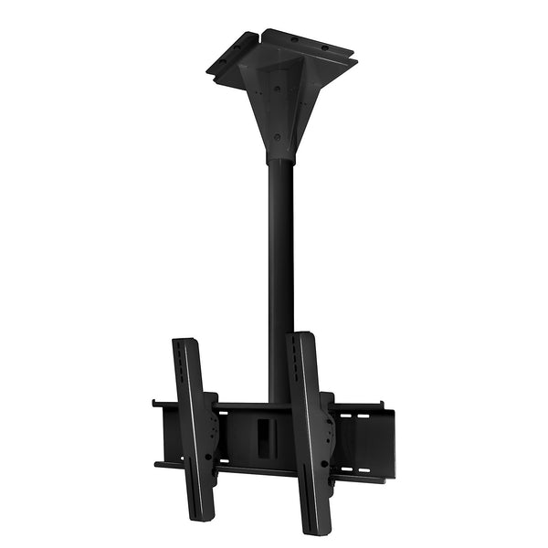 Peerless ECMU-04-C 4' Wind Rated Ceiling Tilt Mount - Black