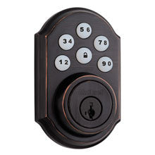 Kwikset Smartcode Deadbolt with Z-Wave Venetian (Bronze)