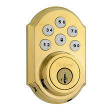 Kwikset Smartcode Deadbolt with Z-Wave Polished (Brass)