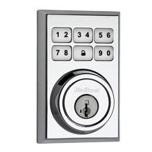 Kwikset Contemporary Smartcode Deadbolt with Z-Wave; Polished Chrome