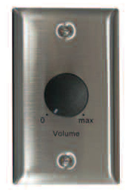 Lowell 100LVC-PA Attenuator-Priority-100W, 100V/70V/25V, 1-gang Stainless Steel