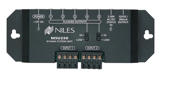 Niles MSU250 IR Repeater System for Single Zone Two Inputs & Five Flasher Outputs