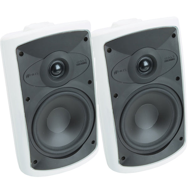 "Niles FG00988 OS6.3 6"" Outdoor Speakers 125W 2-Way - Pair (White)"
