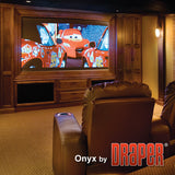 Draper Onyx 15' Permanent Wall Projection Screen