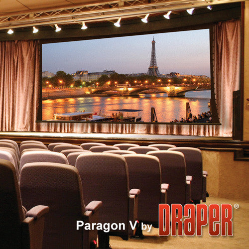 "Draper 114617 Paragon/Series V Motorized Projection Screen (147 x 236"")"