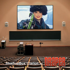 "Draper 253007 ShadowBox Clarion Fixed Projection Screen (120 x 120"")"