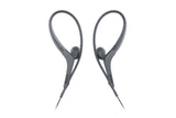 Sony MDR-AS410AP Sport In-ear Headphones with Mic and Over-ear Clip - Black
