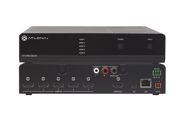 Atlona AT-UHD-SW-51 4K/UHD 5 Input HDMI Switcher