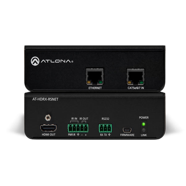 Atlona AT-HDRX-RSNET HDBaseT Receiver w/IR, RS-232, and Ethernet