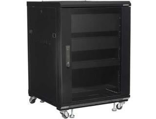 "Sanus CFR2115 15U Component Foundations, 34"" Tall AV Rack"