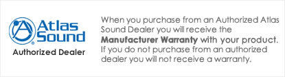 iElectronics is an Authorized Atlas Sound Dealer - All products come with a manufacturer warranty