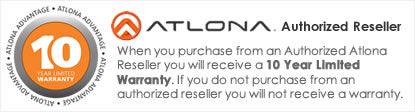 iElectronics is an Authorized Atlona Retailer - All products come with a 10 year manufacturer warranty