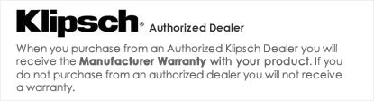 iElectronics is an Authorized Klipsch Audio Dealer - All products come with a manufacturer warranty