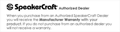 iElectronics is an Authorized SpeakerCraft Dealer - All products come with a manufacturer warranty