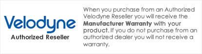 iElectronics is an Authorized Velodyne Dealer - All products come with a manufacturer warranty