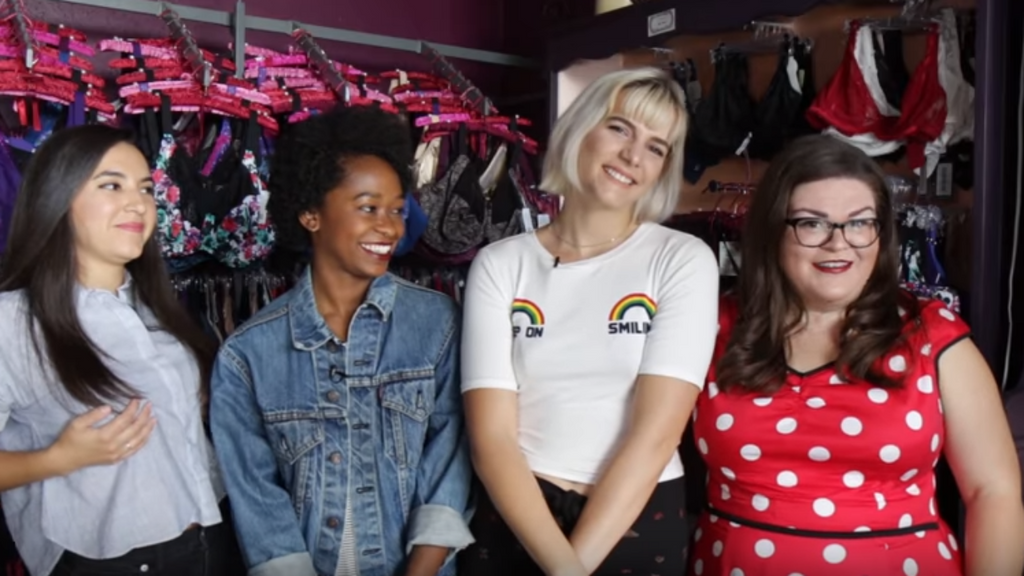 Round 2! Buzzfeed gals get fitted at Lucy's Boudoir