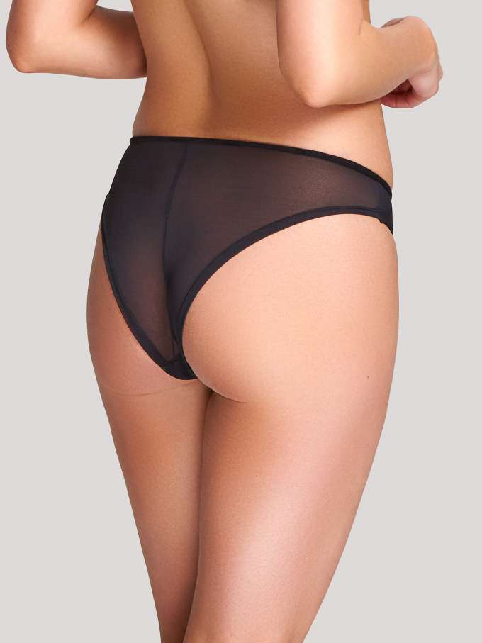 10222 Taylor Brazilian Brief |BLACK/CORAL|