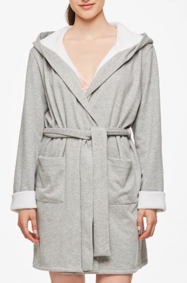"2906 ""Fleur't with Me"" Cozy Days Ladies Night Robe HOODED"