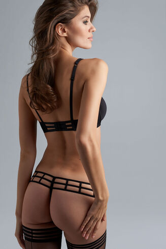16801 Leading Strings Low Rise Thong |BLACK|