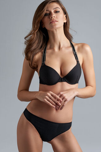 18151 Gloria Push Up Bra |BLACK PINSTRIPE|