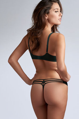 35101 Space Odyssey Push Up Bra |PINE GREEN LACE|