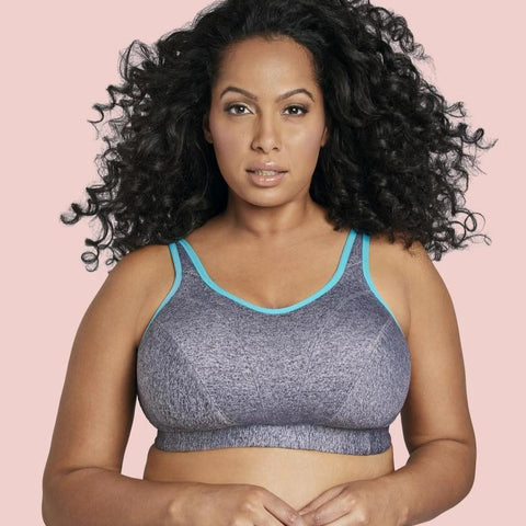 GD6911 Soft Cup Sports Bra (Gray Heather)
