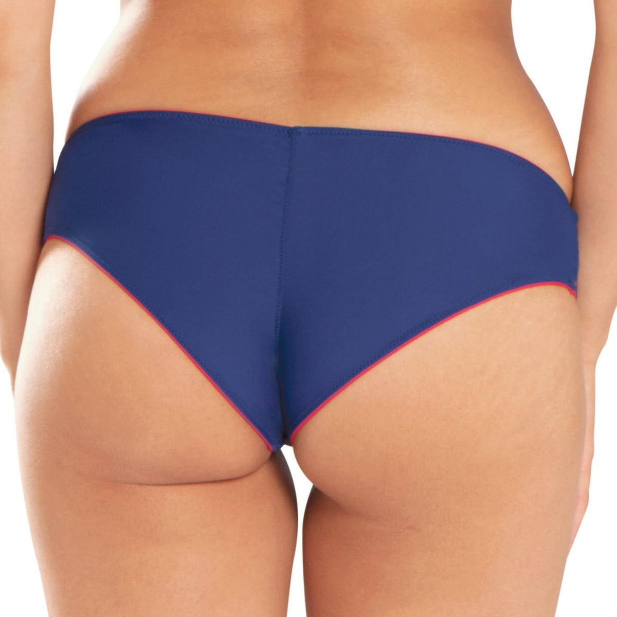 CRVS1003 Peachy Pairs Reversible Short Swim Bottom |NAVY/RED|