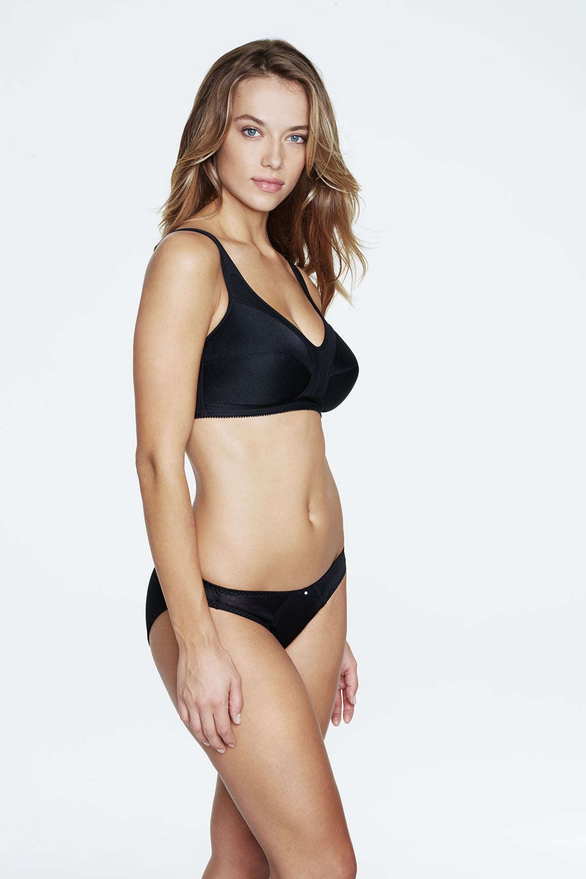 5316 Cotton Lined Wire Free Bra |BLACK|