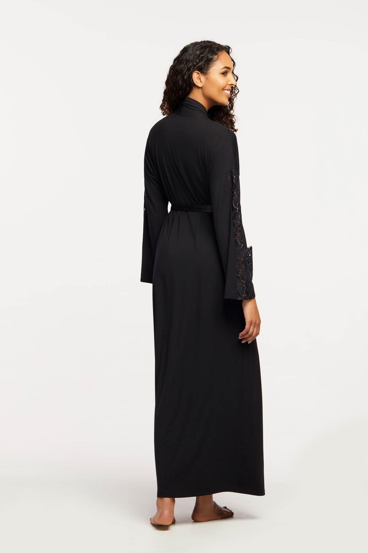 6306 Long Robe |BLACK|