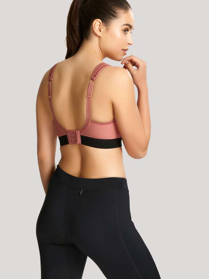 7341B Sports Non Wired Bra |ROSE/BLACK|