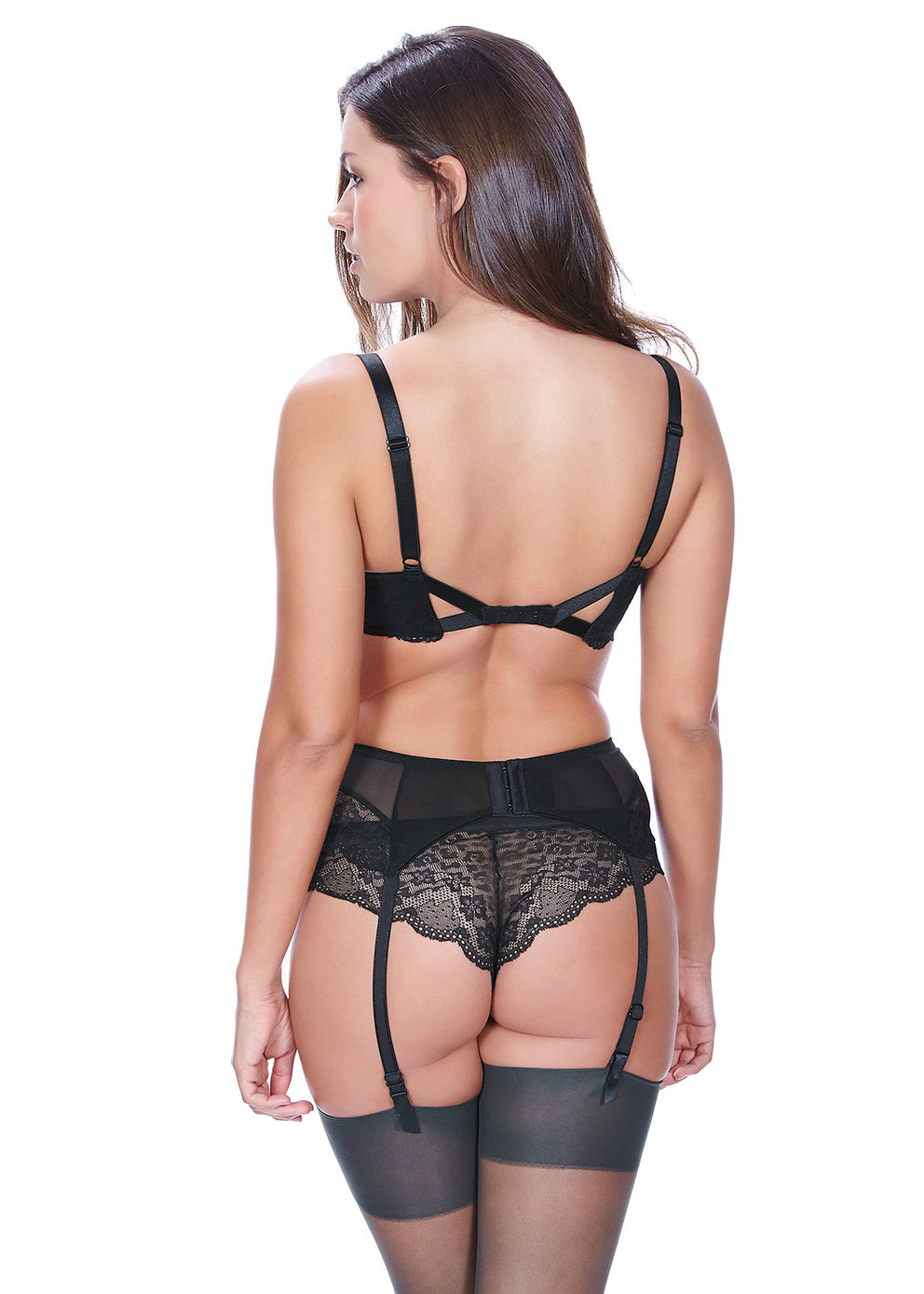 AA1019BLK Freya Fancies Suspender |BLACK|