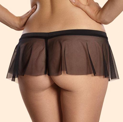 Griffin g-string skirt with open crotch