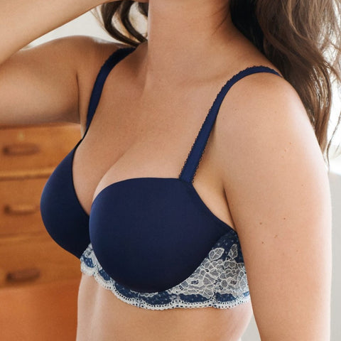 7251 Clara Moulded Sweetheart Bra |NAVY|