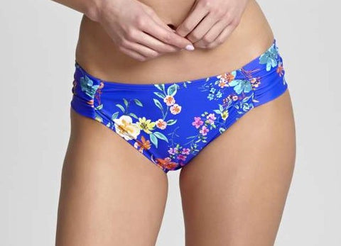 PAS1059 Florentine Gather Pant |COBALT/FLORAL|
